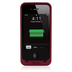 Mophie Juice Pack Air Battery Case For iPhone 4 - Red