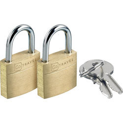 Go Travel Case Lock Twin Secure Luggage Padlocks