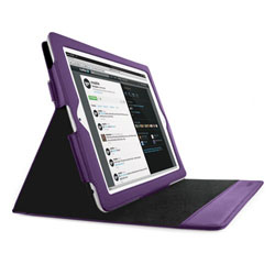 Mophie WorkBook Case & Stand For iPad 2 - Purple