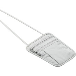 Go Travel Passport Pouch - Secure Neckband Traveling Pouch - White