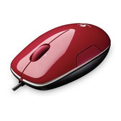 Logitech LS1 Laser Mouse - Cinammon Red