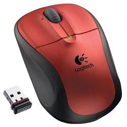 Logitech M305 Wireless Mouse - Crimson Red