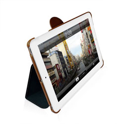 Macally Bookstand Case & Stand For iPad Mini - Blue