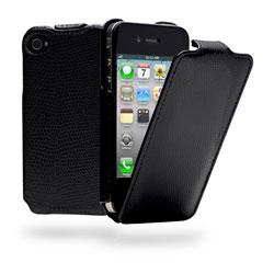Cygnett Paparazzi Textured Flip Case For iPhone 4/4S - Black