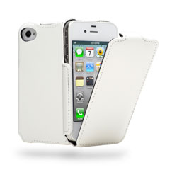 Cygnett Paprazzi Textured Flip Case For iPhone 4/4S - White