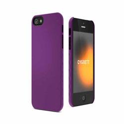 Cygnett AeroGrip Soft Feel Case For iPhone 5 - Purple