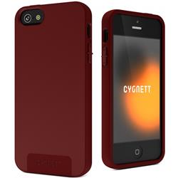 Cygnett SecondSkin Silicone Case For iPhone 5 - Deep Claret Maroon