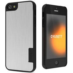 Cygnett UrbanShield Aluminium Hard Case For iPhone 5 - Silver Storm