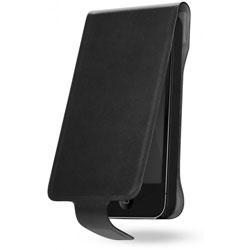 Cygnett Lavish Leather Flip Case For iPhone 5 - Black/Grey