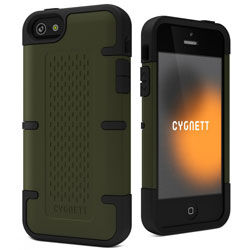 Cygnett Workmate Tough Case For iPhone 5 - Dark Olive Green/Black
