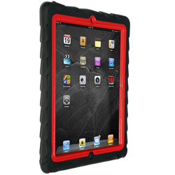 Gumdrop Cases Tech Series Tough Case For iPad 2 - Black/Red