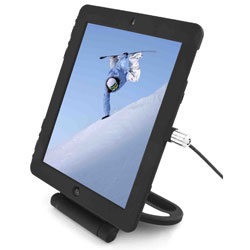 Maclock Security Cover & Rotating Stand For iPad 3 & iPad 2 - Black