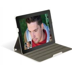 Scosche folIO P2 folio case for iPad 2 - white leather texture