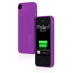 Incipio offGRID Back-Up Battery & Case - For iPhone 4/4S - Glossy Lavender