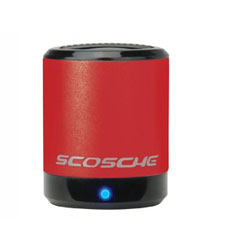 Scosche boomCAN Recharable Portable Speaker For iPhone, iPod and iPad - Red