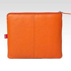 Toffee Leather Pocket Case For iPad/iPad 2/iPad 3 - Orange