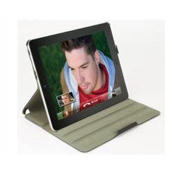 Scosche foldIO P2 Folio Case for iPad 2 - Black Carbon Fibre Texture