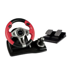 Logic3 TopDrive GT Red Steering Wheel and Pedals For PC, PS2 & PS3 with FREE UK Delivery